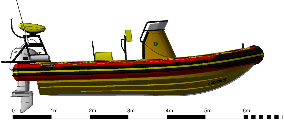 Gemini 650 Rescue RIB Layout