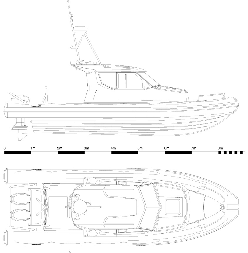 Gemini 850 Cabin RIB General Arrangement